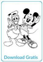 Mikey en Donald Duck gratis kleurplaat