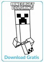 Minecraft gratis kleurplaat
